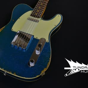 Fender Custom Shop '60 Telecaster Custom Relic – Aged Blue Sparkle 753 for sale