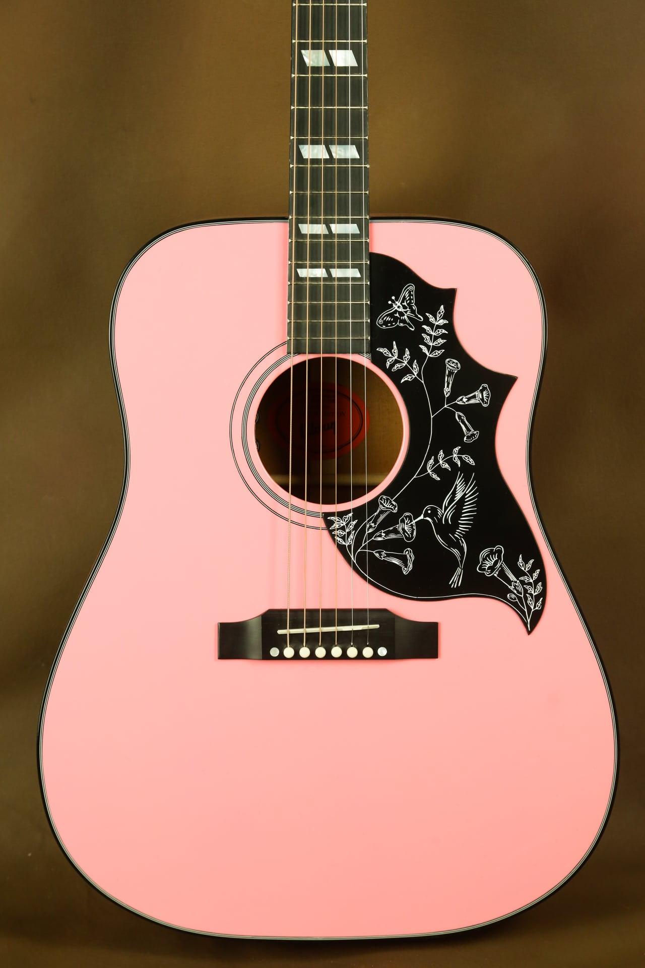 gibson hummingbird pink rare acoustic guitar reverb. Black Bedroom Furniture Sets. Home Design Ideas