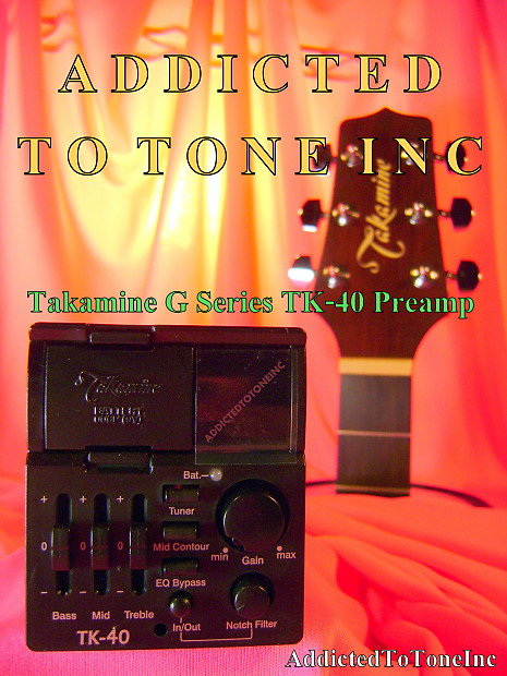 takamine tk 40 g series preamp with built in chromatic tuner reverb. Black Bedroom Furniture Sets. Home Design Ideas