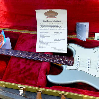 Panucci Stratocaster 2011 Inca Silver w COA 4th Panucci by master luthier Angelo Van Merrienboer for sale