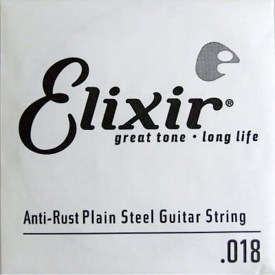 Elixir Nanoweb Electric Plain Single String 018
