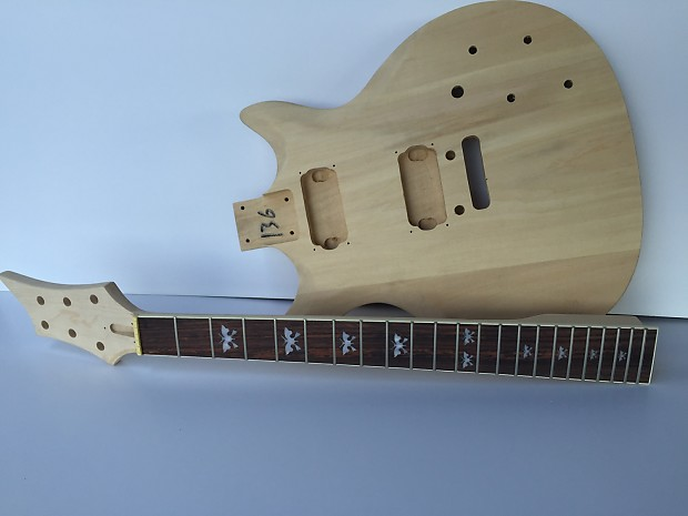 do it yourself diy electric guitar kit prs style electric reverb. Black Bedroom Furniture Sets. Home Design Ideas