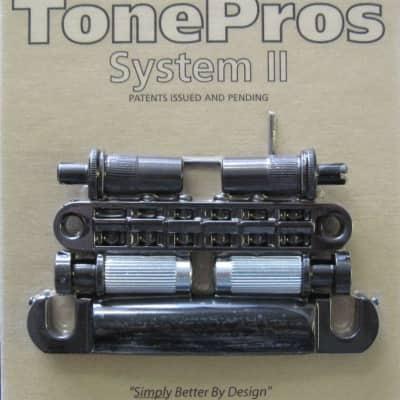 TonePros LPM02-B Metric Tuneomatic/Tailpiece Set Black