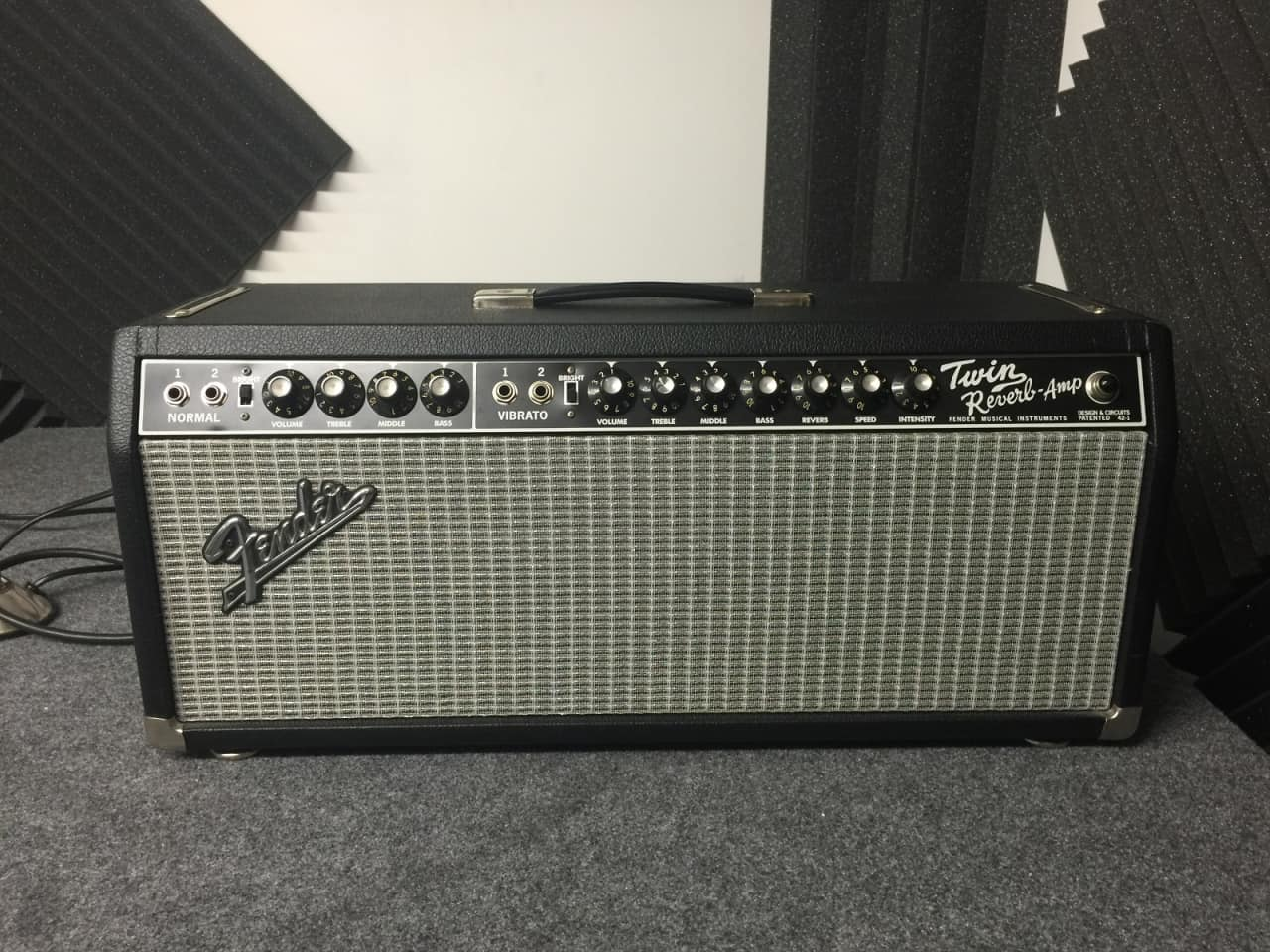 fender twin reverb head very rare and sounds amazing might be reverb. Black Bedroom Furniture Sets. Home Design Ideas