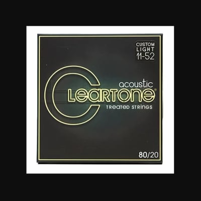 Cleartone Strings 7611 Bronze Acoustic 80/20, Custom Light