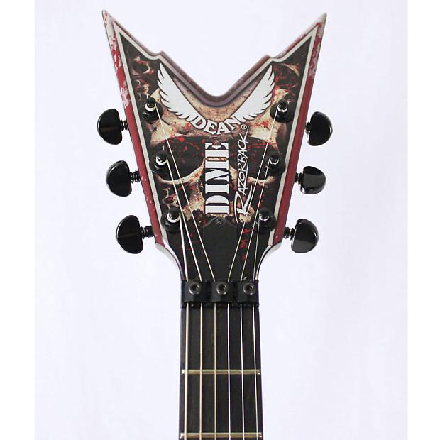 dean usa dime razorback v skulls 6 string electric guitar w reverb. Black Bedroom Furniture Sets. Home Design Ideas