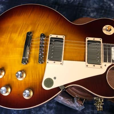 NEW! 2021 Gibson Les Paul 60's Standard Iced Tea Finish - Authorized Dealer - Wispy Flame! 8.9lbs!