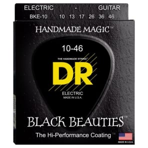 DR BKE-10 Black Beauties Coated Electric Guitar Strings - Medium (10-46)