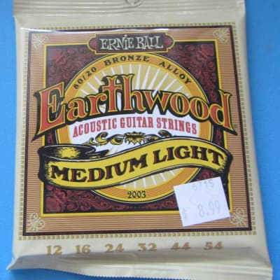 3 SETS of Ernie Ball Earthwood Acoustic Guitar Strings 80/20 Bronze alloy