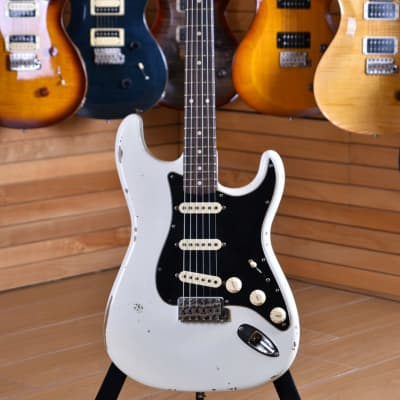 Fender Custom Shop Limited Edition '60 Stratocaster Roasted Rosewood Relic Poblano Aged Olympic White for sale