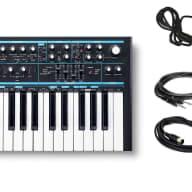 Novation Bass Station II w/ Sustain Pedal, 2 Instrument & 2 MIDI Cables Bundle