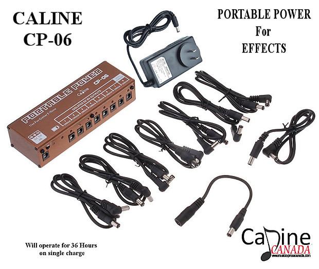 caline cp 06 portable rechargeable 9v power supply 4 effects reverb. Black Bedroom Furniture Sets. Home Design Ideas