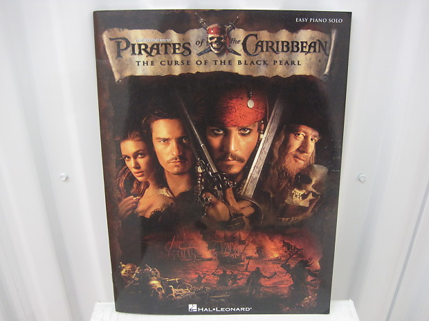 Pirates of the Caribbean Curse of the Black Pearl Easy Piano Solo Sheet  Music Song Book Songbook