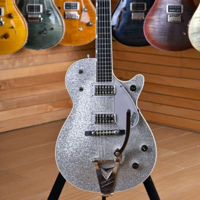 Gretsch G6129T Jet Silver Sparkle Ebony Fingerboard for sale