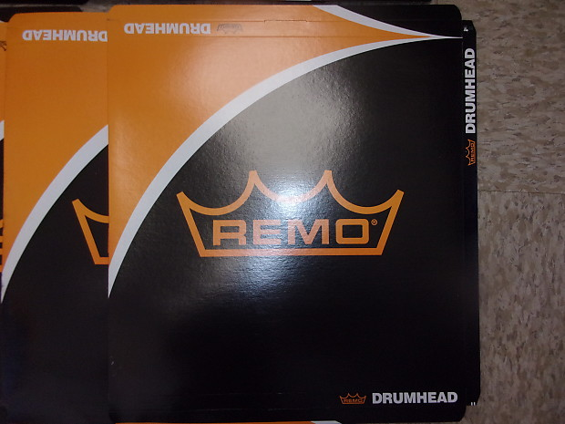 lot of 8 remo 14 drum head boxes only no heads reverb. Black Bedroom Furniture Sets. Home Design Ideas
