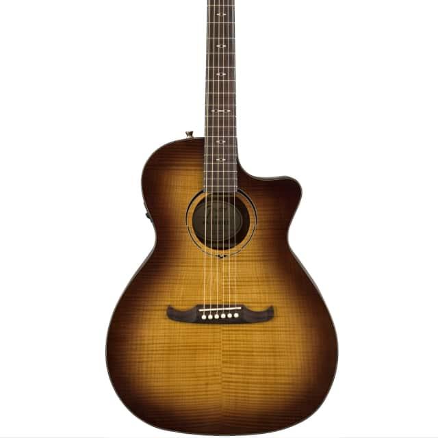 Fender FA-345CE Auditorium Acoustic-Electric Guitar Flame Maple 3-Tone Tea Burst image