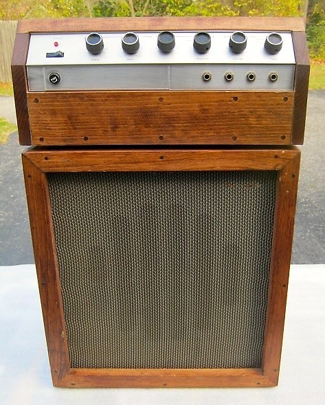 guitar amplifier head and cabinet home made antique natural reverb. Black Bedroom Furniture Sets. Home Design Ideas