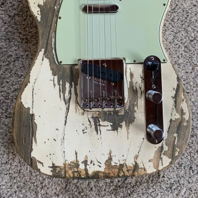 Fender Custom Shop - 2019 - '63 Telecaster - Super Heavy Relic - Olympic White for sale