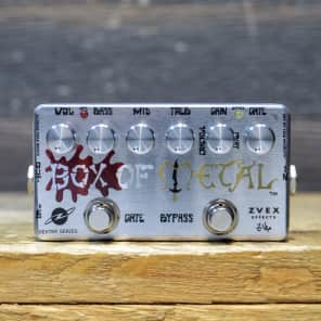 ZVEX Box of Metal Vexter Series Silk-Screened Art Distortion Effect Pedal w/Box
