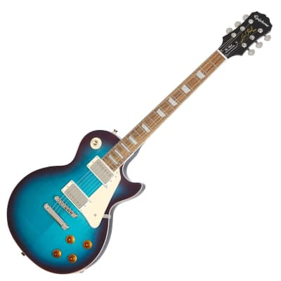 Epiphone Les Paul Standard Plustop Pro Blueberry Flame Maple Probucker 2 3 for sale