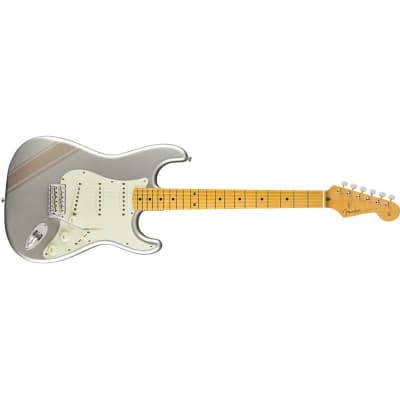 Fender FSR Japan Traditional '50s Stratocaster, Inca Silver with Shoreline Gold Stripes for sale