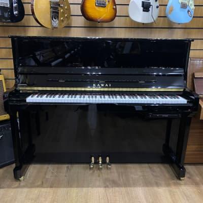 Used Kawai K-3ATX Upright Piano Black F039830 - Sherwood Phoenix Pianos