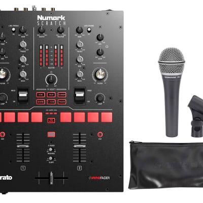 Numark Scratch 24-Bit 2-Channel Serato DJ Scratch Mixer+Samson Q8X Microphone