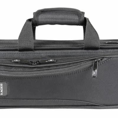 Kaces Lightweight Hardshell Flute Case, Black, KBO-FLBK