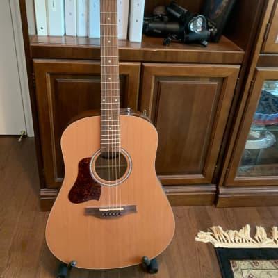 seagull S6 Original Left Handed Acoustic Guitar  natural, solid cedar. PLUS Seagull custom case for sale