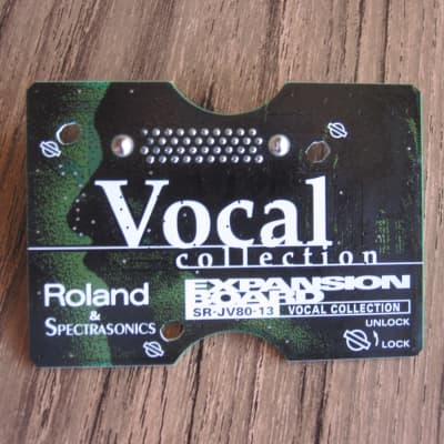 Roland Roland SR-JV80-13 Vocal expansion board card patches waveforms presets