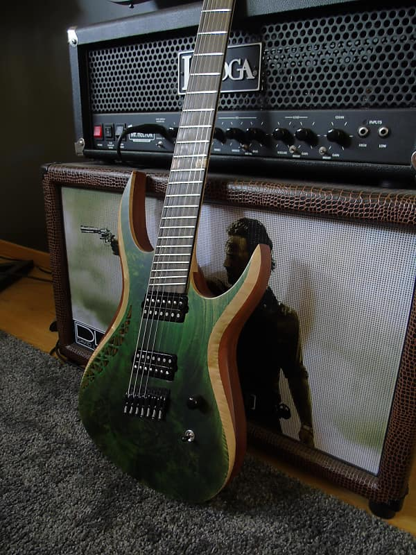 Od Guitars Rhea 7 Multiscale 2016 Tropical Green Reverb