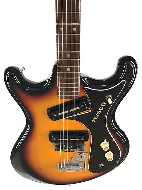 teisco v2 mosrite style guitar sunburst 1968 josh homme reverb. Black Bedroom Furniture Sets. Home Design Ideas