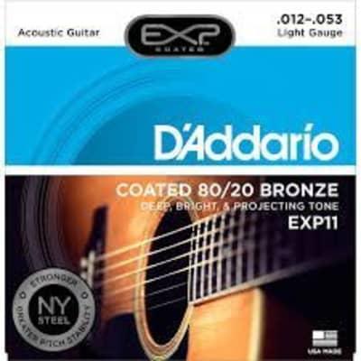 EXP11 Daddario 12-53 Coated Light 80/20 Bronze