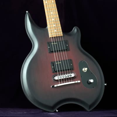 Licea Diablo Burgundy Bamboo Electric Guitar for sale