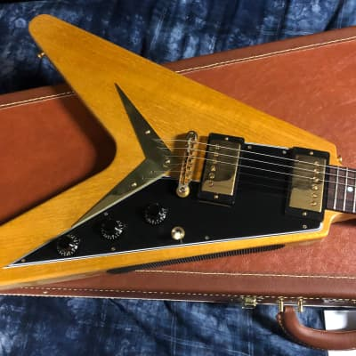 NEW! 2021 Gibson Gibson Custom 1958 Korina Flying V Black Pickguard - Authorized Dealer - In-Stock!