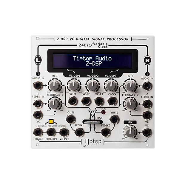 Tiptop Audio Z-DSP Eurorack DSP stereo effects | Reverb