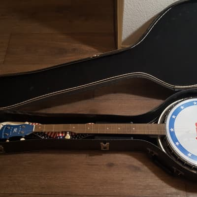Vintage 1976 Harmony BiCentennial 5 String Banjo with  Case for sale