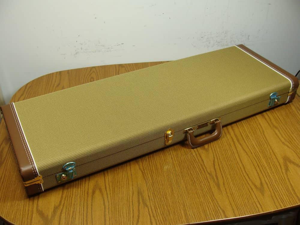 vintage fender strat tele g g tweed hardshell case for reverb. Black Bedroom Furniture Sets. Home Design Ideas