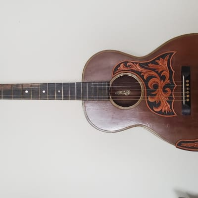 1908 -1912 Tonk Bros. & Co. Sterling 00 / Large Parlor Acoustic Guitar Vintage Mahogany Gypsy Jazz, Blues for sale