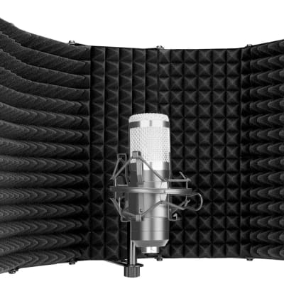 Foldable Microphone Acoustic Isolation Shield