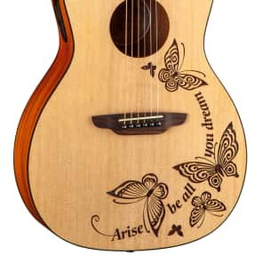Luna Gypsy Dream Parlor Acoustic Guitar w/Tuner Satin Natural GYP DREAM for sale