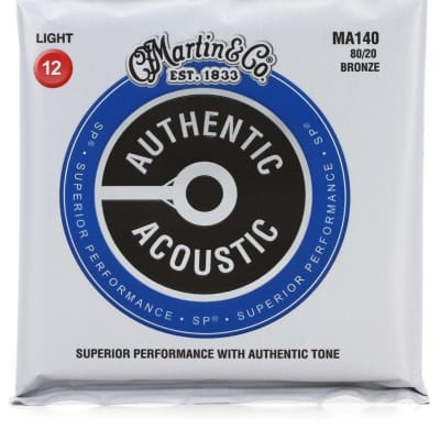 Martin Guitar Strings Authentic Acoustic SP - MA140 (3 Sets)