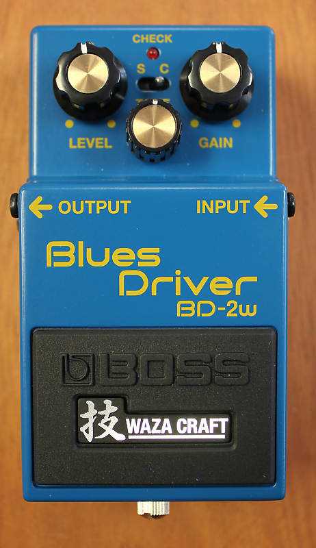 boss bd 2w japan blues driver waza craft guitar effects pedal reverb. Black Bedroom Furniture Sets. Home Design Ideas