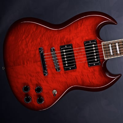 Feline Gothic model flametop red burst for sale