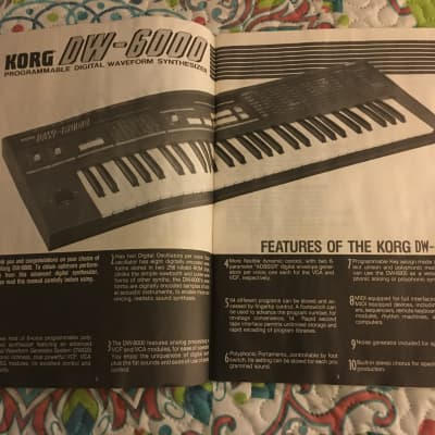 Korg DW-6000 Original Manual (1985)