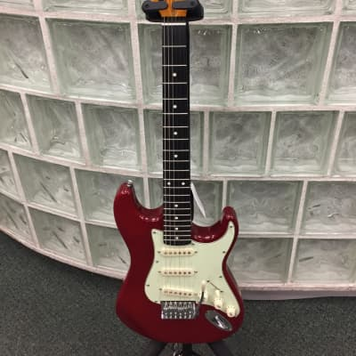 Oscar Schmidt OS30-TR Transparent Red Electric Guitar for sale