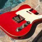 Real Life Relics Tele Telecaster Body Double Bound Lightweight Fire Engine Red image