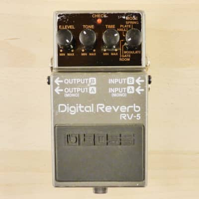 Boss RV-5 Digital Reverb Pedal - Stereo Emulator Has Spring, Plate, & Hall Reverb + More - VG Cond image
