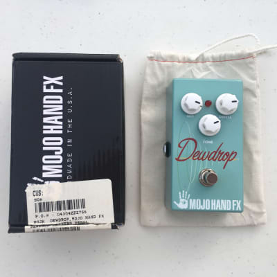 Mojo Hand FX Dewdrop Spring Digital Reverb Echo Guitar Effect Pedal + Box