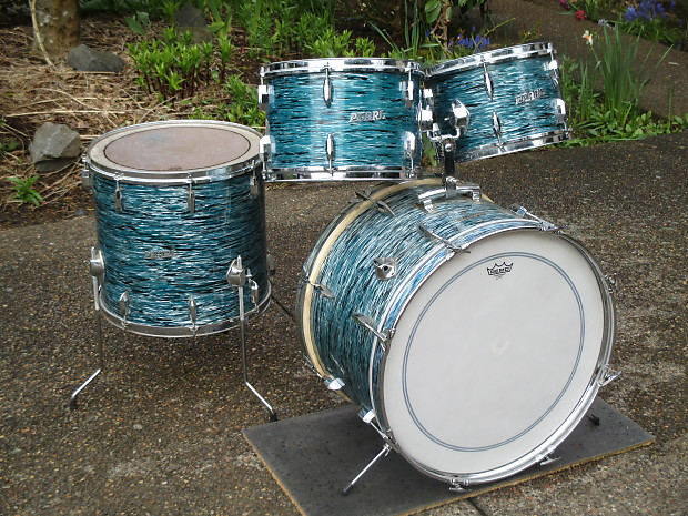 Dh Auto Sales >> Pearl Vintage 1960s Pearl ThunderKing Drum Kit, Blue Oyster, | Reverb